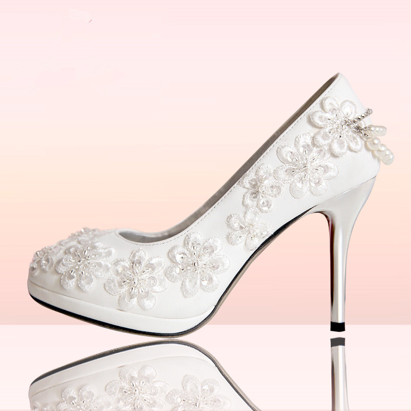 2013 New arrival handmade beaded wedding shoes white wedding shoes bridal shoes