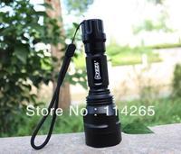 Promotion! UltraFire C8 5W 800 Lumens CREE Q5 LED Flashlight with Strap lamp 982