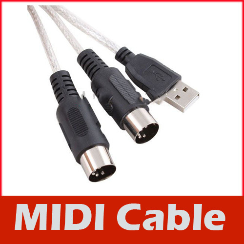 6FT 2M USB MIDI Interface Cable Line Converter PC to Music Keyboard Adapter #2(China (Mainland))