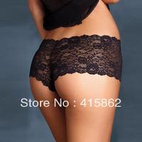 Fashion sexy low-waist quality lace transparent panty plus size pants t