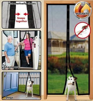 Free Shipping 1pcs/lot Magic Mesh Hands-Free Screen Door window Curtain Net Magnetic Anti Mosquito Bug As Seen On TV