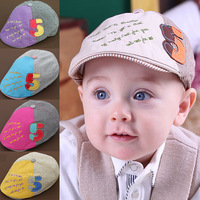 Hot Sale! 2013 New Arrival Spring baby 100% cotton hat child sun hat baby baseball cap pocket hat for 6-20 months 5 colors