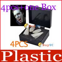4PCS White Hot Fancy Vampire Denture Teeth Fangs Party Halloween Costume + Box