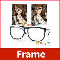 Large Square Clear Lens Black Frame Wayfarer Nerd Glasses 03