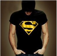 2014 Fashion Top sale Men summer T-shirt Women brand tees tops Short Sleeve Superman t shirts Free shipping MBD007