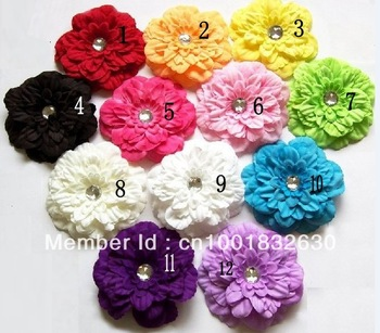 10pcs Peony Flowers Hair Clip Baby Girls Head Flower Children Kid's Hair Accessories Free Shipping