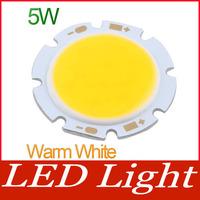 5W Warm White Round COB LED SMD Light Lamp Bulb DC 18V 3000-3200K 350LM~400LM