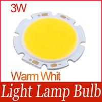 3W Warm White Round COB LED SMD Light Lamp Bulb DC 11V 3000-3200K 230LM~250LM