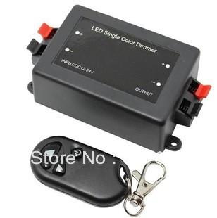 Hot selling! LED Controller 3 Key RF Remote Single Color Dimmer LED Strip Dimmer Controller 5050/3528 12/24V 8A