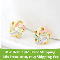 Free shipping new hot Fashion sweety beautiful women trendy wool earrings Bohemia cross stud jewelry for women 2014 M11