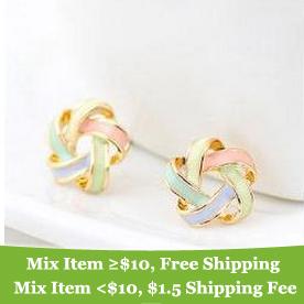 Free shipping new hot Fashion sweety beautiful women trendy wool earrings Bohemia cross stud jewelry for women 2014 M11(China (Mainland))