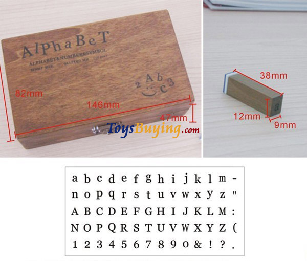 50sets/lot 70pcs set Rubber Stamp Alphabet Number Symbol Wooden Box Print Letter upper and lower case +DHL/Fedex free shipping(China (Mainland))
