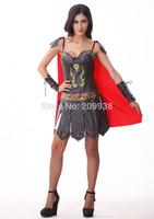 Leather Roman costume,Spanish gladiator suit sexy uniform,halloween costumes for women PSN03