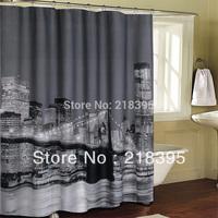 Shower curtain waterproof bath curtain New York City Brooklyn Bridge Manhattan Polyester Shower curtain 180x180cm 4182