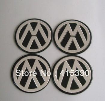 4pcs VW Logo Wheel Center Cap Hub Cover Emblem Badge Sticker 56mm car decoration