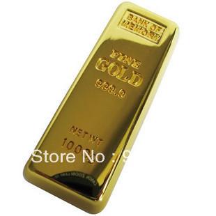 Free Shipping Gold Bars USB Flash Drive  4GB 8GB 16GB 32GB