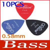 New 10PCS Smooth Nylon 0.58mm Electric Guitar Picks Plectrums Bass Music #4