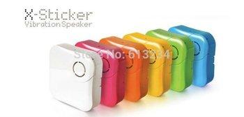 Free shipping 1 piece X-Sticker USB Resonant Candy Speaker Portable Vibration Speaker
