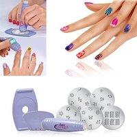 Nail Art Stamp Stamping Polish Professional Nail DIY Design Kit Decoration