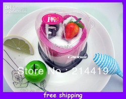 Creative towel cake Gift Box Strawberry hand towel birthday/xmas decoration 2 pieces towels 20*20cm(China (Mainland))