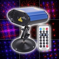 180mW Mini Red & Blue light Moving Party Stage Laser Light Projector with holder & remote control laser DJ disco party light
