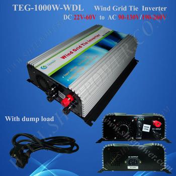 NEW!!1KW 1000W Single phase Solar/Wind grid tie inverter(DC22~60V to AC100V,AC110V,AC120V ,AC220V,AC230V,AC240V)