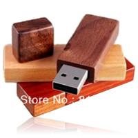 Free Shipping Wooden USB Stick Design Logo Print Full Capacity
