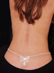 Fashion costume jewelry Butterfly Rhinestone Belly Chain and Lower Back LC0634(China (Mainland))