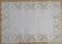 12*15.75'' white rectangular food decor mat paper doilies