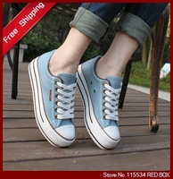Free shipping  summer platform casual shoes cotton-made shoes platform shoes  canvas shoes for women WS0003