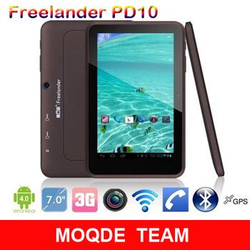 Freeshipping Wcdma phone call 7inch Freelander PD10 3G dual core tablet pc MTK6577 1.5GHz 1GB RAM 8GB ROM
