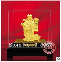 YZ-R2007 24K gold craft/ Gold Handicraft/corporate gift/  Buddhism   Wealth Mammon God figurine