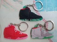Free shipping Shoes Keychain,Yeezy Sneaker Key Ring, 2 pcs/1set
