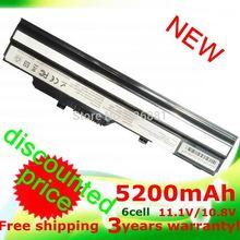 5200mAh Black Laptop Battery for Msi Wind U90 U100 U210 U230 BTY-S11 BTY-S12 3715A-MS6837D1 6317A-RTL8187SE TX2-RTL8187S(China (Mainland))