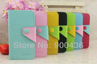 New 10pcs/lot  Korea mobx style leather cover for iphone 5 card holder case   Free shipping