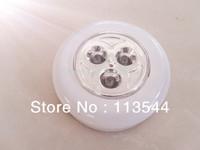 hot sales freeshipping round shape 3 LED push lights 5pcs/lot