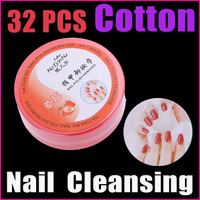 5 sets /lot 32PCS Nail Polish Cleansing Strawberry  Nail Art Polish Remover Wipes Cotton Pad Paper Towel,Free Shipping