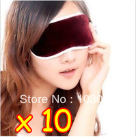 New 10 Tourmaline Magnetic Far Infrared Ray Heat Health Pain Relief Deep Sleep Eye Mask Shade + Free Shipping