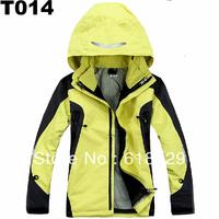 Full seams taped waterproof 10000mm 2 in 1 custom jacket for lady (T014)