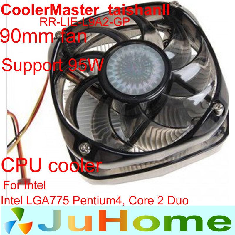 9 cm fan,Aluminum congestion copper heatsink LGA775 CPU cooler cpu radiator,cooling fan,CPU Fan CoolerMaster TAISHAN2(China (Mainland))