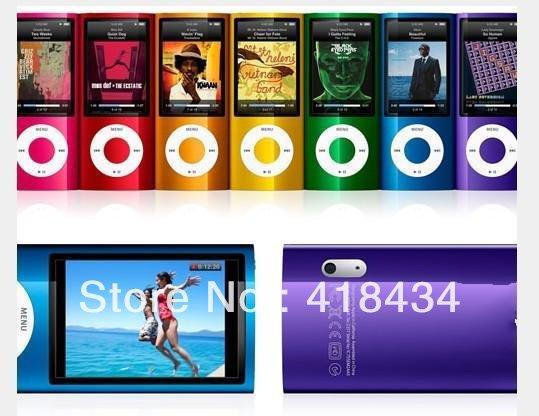 "Free DHL shipping 50pcs/lot 4th Slim 1.8""LCD 16GB MP3 MP4 Player FM Radio Player 9COLORS(China (Mainland))"