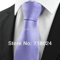 2014 Unique Lavender Purple Men's Tie Necktie Jacquard Woven High Quality Silk Ties for men Promotions