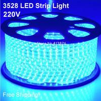 Free Shipping!220v smd 3528 waterproof Led Strip light 60leds/m