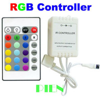 12V IR Remote Light Control 24 key RGB 6A Controller for 5050 3528 RGB LED Strip lighting Wholesale Free Shipping 2pcs/lot