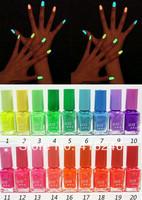 1 pc Fluorescent Luminous Neon Glow In Dark Varnish Nail Art Polish Enamel 20 Colors