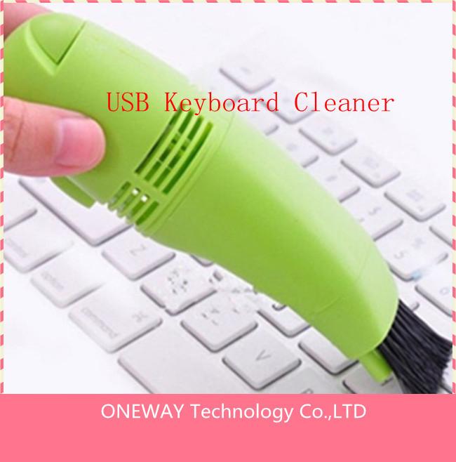 MINI USB VACUUM KEYBOARD CLEANER for PC Laptop 50pcs/lot Free Shipping(China (Mainland))