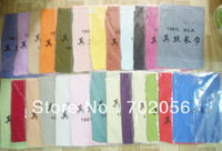 NEW ARRIVAL womens Solid spring summer silk scarf Neck Scaves 150*50cm mixed color 20pc/lots #2558
