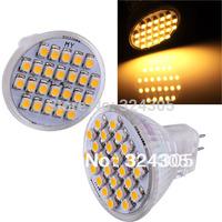 NEW MR11 GU10 Pure White warm white 3528 LED 24 SMD Spot Light Energy Saving  Long Life Lamp  Lamp Bulb 12V 2W