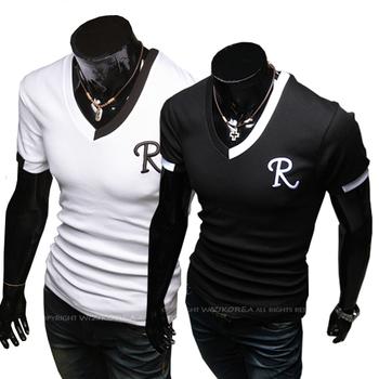Plus Size 3XL 4XL 2014 Male Clothing Fashion Men T Shirt Mens Short Sleeve T-shirt Brand Man Shirts camisetas masculina RHYD477