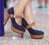 Free shipping news high heel shoes heels women dress footwear fashion buckle sexy pumps P2583  hot sale size 34-39